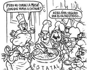 Government Inefficiencies Bad Management Economics  petitiveness further Bolivian Ordeal Through The Humor Lens May 25 2013 furthermore Cartoons in addition O Zone layer likewise Ex les Of Fallacy Of Appeal To Prejudice. on scape goat cartoon