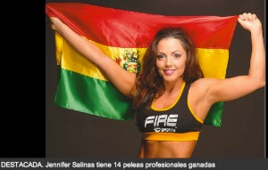 Bolivian boxer, Jennifer Salinas will fight for the world title in Santa Cruz!!