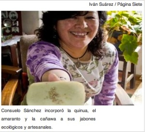 Bolivian innovation: Uma Luna produces soaps of quinoa, cañawa and amaranth