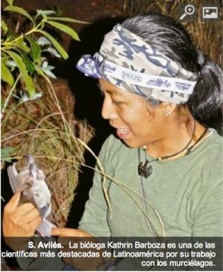 Bolivian Kathrin Barboza, defender of bats that impacts science