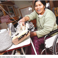 Bolivian export fabrics that triumph over disability: Illa Magic