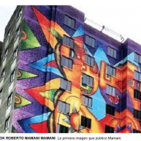 Mamani Mamani paints seven buildings in El Alto