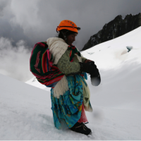 Bolivia Cholita Mountain Climbers
