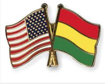 Bolivia USA flags