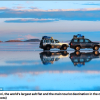 Five tourists killed at Bolivia's famous salt flats after vehicle they were travelling in flipped upside down