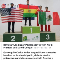 Bolivia reaffirms its lead in racquetball, we bathed in gold!