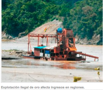 They denounce illegal gold exploitation in Beni