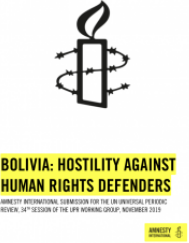 Bolivia: Hostility against human rights defenders
