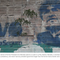 With Morales gone, his image slowly fades in Bolivia