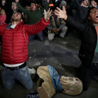 Chávez and Evo Morales: Bolivians Destroy Socialist Monuments